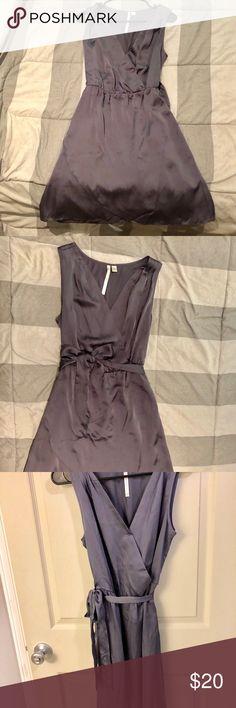 Lauren Conrad sleeveless dress. Size 6. Soft charcoal grey dress. Sleeveless with a tie around the waist. Worn one time! LC Lauren Conrad Dresses Midi