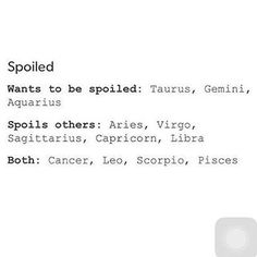 I do spoil others...