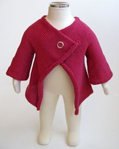 knitted baby sweater pattern.