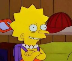 Lisa Burns - The Simpsons Simpsons Meme, The Simpsons, Cartoon Memes, Funny Memes, Cartoons, Reaction Pictures, Funny Pictures, Meme Background, Cartoon Profile Pictures