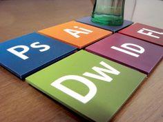 graphic designer coasters
