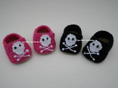 Boy and Girl Crochet Pirate Booties  Babies and by SugarMamaShop, $11.99