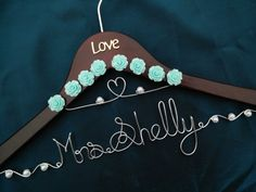 Double-line hanger Personalized Wedding Hanger by Brightwedding
