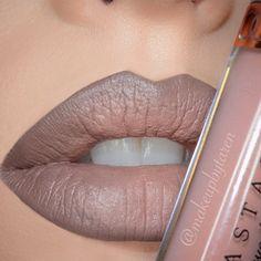Nude Lips and Liner by @makeupbytaren I #pampadour #lipliner #anastasia #occ #lips #nudelips #makeup #beauty