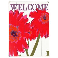 Planked wood wall decor with a floral motif.    Product: Wall decorConstruction Material: WoodFeatu...