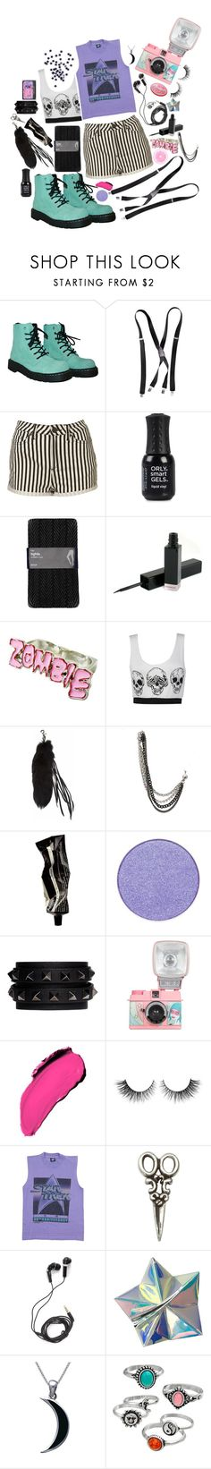 """Alien She"" by branja ❤ liked on Polyvore featuring T.U.K., H&M, Topshop, ORLY, Gap, Givenchy, Victorious 22, Hot Topic, Aesop and Valentino"