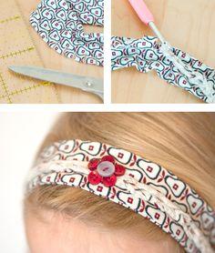 Einfaches Haarband mit Flechtmuster nähen |Tutorial - Nähanleitung