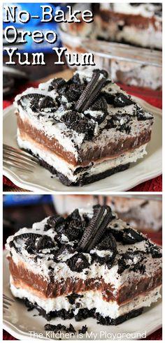 Oreo Dessert Recipes, Desserts To Make, Chocolate Desserts, Chocolate Lasagna, Cheesecake Recipes, Dessert Ideas, Yummy Snacks, Delicious Desserts, Yummy Food