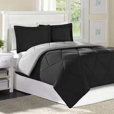 @Overstock.com - Home Essence Columbine Full/ Queen-size Down Alternative 3-piece Comforter and Sham Set - Snuggle irritant-free into this lovely lightweight down-alternative comforter and sham set by Home Essence. This comforter is made from super soft microfiber filled with hypoallergenic 6F fiber for a long, allergy-free nights sleep…