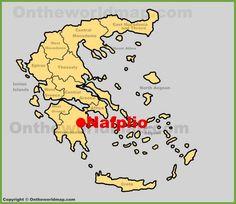 Nafplio location on the Greece map