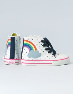Mini Boden #rainbow Appliqué High Tops