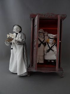wonderful witch and gaul mini dolls From the Studio of Pat Benedict