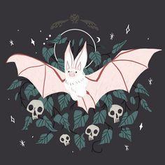 'Familiar - Desert Long Eared Bat' Art Print by straungewunder Art Inspo, Kunst Inspo, Inspiration Art, Art And Illustration, Pretty Art, Cute Art, Original Anime, Dessin Old School, Bel Art
