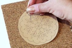 Learn How to Embroider on Paper: Pierce the Paper