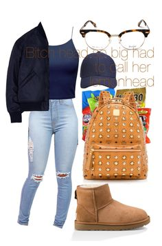 """•Lemonhead•"" by clutxhcash ❤ liked on Polyvore featuring Studio Concrete, UGG and MCM"