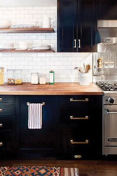 Break Out the Paint: Blue Kitchens Are Très Chic Right Now #purewow #decor #kitchen #home