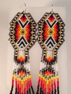 5018c5e77020 The Monarch Seed Bead Fringe Earrings by Calisi on Etsy Perles De Cristal