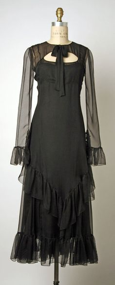 Evening Dress, House of Chanel, Designer Karl Lagerfeld, S/S 1993, French, silk