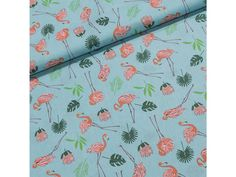 Bavlněné plátno 203000/D0525 plameňáci na modré, š.140cm (látka v metráži) | TextilCentrum.cz Scrappy Quilts