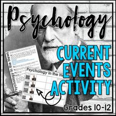 Psychology Current Events Project by Social Studies Toolbox Psychology Resources, Middle School, High School, Psychology Disorders, Mental Health Services, School Levels, Psychotic, Schizophrenia, Current Events