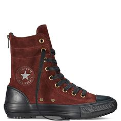 Converse Chuck Taylor All Star Hi Rise Boot Sneakers Mode, Sneakers Fashion, Suede Boots, Leather Boots, Women's Boots, Chuck Taylors, Converse Boots, Pullover Shirt, Disney Shoes
