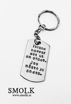 by SMOLK -Handstamped jewelry with a twist Crazy Cookies, Maila, Hand Stamped Jewelry, Great Words, Some Fun, Texts, Wisdom, Lettering, Thoughts