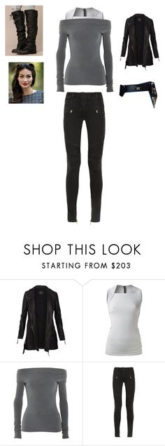 """Untitled #6079"" by abigailloveschocolate ❤ liked on Polyvore featuring AllSaints, Gareth Pugh, James Perse, Balmain and Free People"