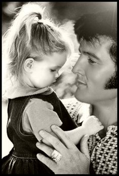 Elvis and Lisa Marie....1970