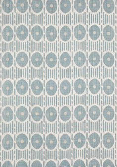 MESA IKAT, Aqua, F914231, Collection Imperial Garden from Thibaut