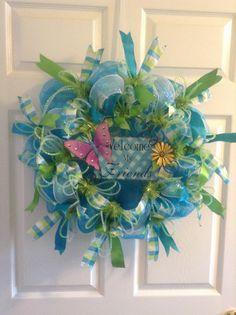 Special spring wreath order I made...Debbie Snyder