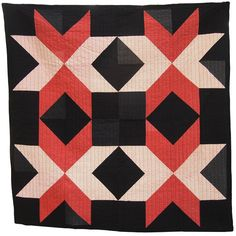 Dark Star Quilt, Folk Fibers.    Entirely hand quilted with pure cotton Japanese Sashiko thread, natural cotton batting, and framed with a hand-stitched binding.