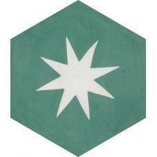 Moroccan Encaustic Cement Hexagonal Tile Rex Star