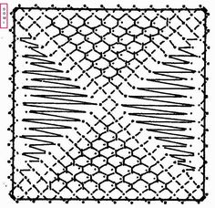 Le 28ème carré de notre damier, que vous propose Dominique, est composé de fond filoche et de grille.           Si vous réalisez un ouvrage ... Bobbin Lacemaking, Bobbin Lace Patterns, Lace Jewelry, Needle Lace, Tatting, Stitch, Crochet, Handmade, Google Search