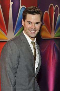 """""""2012 NBC Upfront Presentation"""" Red Carpet/Green Room roaming -- Pictured: Andrew Rannells """"The New Normal"""" -- (Photo by: Charles Sykes/NBC)   #NewNormal"""