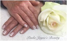 Shellac mani for lovely Janet.  Classic French with Romantique and Cream   New clients receive 15% OFF first treatment   Gift Vouchers and Loyalty Cards are available   Shellac CND / Manicure/ Pedicure/ Tropic Facials / Massage / Waxing / Tinting / Spray Tanning / Lash Extensions / Make-Up  To book please contact me via fb or Tel/Txt 07846 504675  www.paula-jaynesbeauty.co.uk