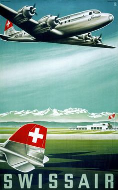 Swiss Air poster 30s-60s | p_old17.jpg (603×968)
