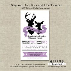 stag and doe tickets Purple Wedding, Diy Wedding, Wedding Ideas, Stag And Doe Games, Auction Games, Jack And Jill, Party Planning, Invitations, Cards