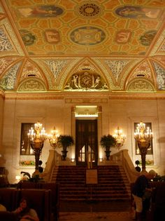 Palmer House, Chicago the Lobby Chicago Hope, Chicago City, Palmer House Chicago, Evanston Chicago, The Second City, Chicago Photos, My Kind Of Town, White City, Beautiful Hotels