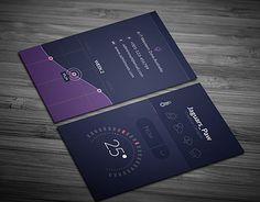 """Check out new work on my @Behance portfolio: """"Temperature Business Card"""" http://be.net/gallery/51652761/Temperature-Business-Card"""