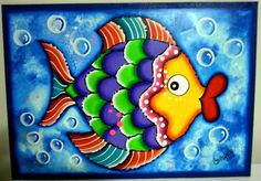 madera country peces - Buscar con Google Acrylic Painting Lessons, Dot Painting, Painting For Kids, Art Drawings For Kids, Art For Kids, Painted Rocks, Hand Painted, Wal Art, Bird Template