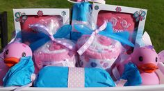 Twin Baby Girls Gift Basket / Twin Baby Shower / Princess Baby Shower / Twin Girl Baby Gift / Baby Shower Gift / Mom Twin Baby / READY SHIP by ColorfulBows on Etsy  www.colorfulbows.com