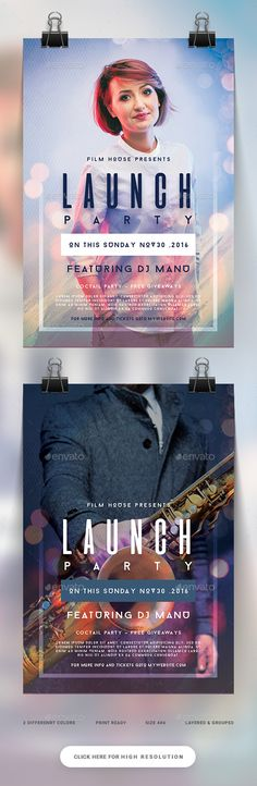 Launch Party Flyer  — PSD Template #techno #4.25x6.25 • Download ➝ https://graphicriver.net/item/launch-party-flyer/18103166?ref=pxcr