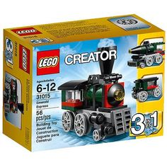 Compare prices on LEGO Creator Set Emerald Express from top online retailers. Save money on your favorite LEGO figures, accessories, and sets. Box Building, Building Toys, Lego Creator Sets, The Creator, Locomotive, Van Lego, Black Friday Specials, Lego Trains, Lego Toys