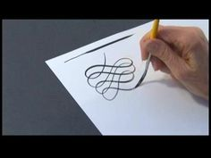 Calligraphy Alphabet N-Z : Calligraphy Flourishes With Pointed Brushes