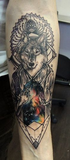 really pretty!!! and cool!!!! i don't know if i would get it but i love the galaxy thing and wolves andthat kind of set up on pictures. i might get somethng similar on my back but i don't know. not out of the house yet and my parents would kill me if they found out i like tatts...awkies