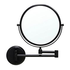 GURUN Wall Mount Makeup Mirror Oil Bronze Finish with Magnification,Dual Sided, Copper 12 Inches Arm Magnifier, Wall Mounted Light, Wall Mounted Magnifying Mirror, Wall Mounted Makeup Mirror, Magnification Mirror, Wall Mounted Mirror, Polished Chrome, Wall Mount, Mirror Wall