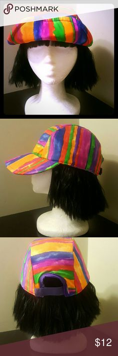 Cole by california  multi-colored hat Its a multi-colored hat is the life of the party all by itself ! The material is a polyester blend. Make any outfit pop and brighten up your wardrobe with this 80's-early 90's cap. Cole by california Accessories Hats