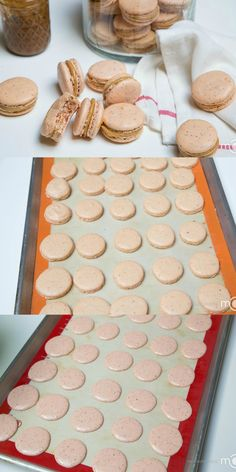 Dulce De Leche Macarons Recipe, no fail recipe with step by step photos! I'm in love with macarons! Cookie Desserts, Just Desserts, Cookie Recipes, Delicious Desserts, Dessert Recipes, Yummy Food, Cupcakes, Cupcake Cakes, Yummy Treats