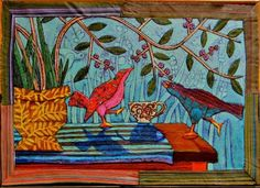 """from Daily Art Muse - Debo and Tina, aka Debortina, paint with polymer clay. They describe themselves as """"two women who mix up our Latin and Germanic cultures to produce art work that is both saturated in vibrant color and grounded in complex patterns."""""""