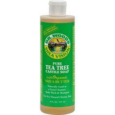 Dr. Woods Shea Vision Pure Castile Soap Tea Tree - 16 Fl Oz